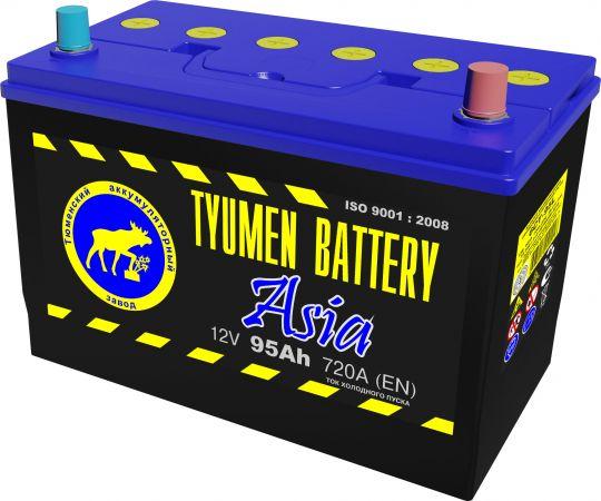 Автомобильный аккумулятор АКБ Тюмень (TYUMEN BATTERY) ASIA 6CT-95L 95Aч П.П. нижнее крепление