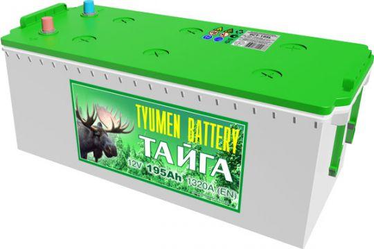 Автомобильный аккумулятор АКБ Тюмень (TYUMEN BATTERY) ТАЙГА  6СТ-195L 195Aч П.П.