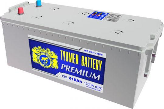 Автомобильный аккумулятор АКБ Тюмень (TYUMEN BATTERY) PREMIUM  6CT-210L 210Aч О.П. (3) (евро)