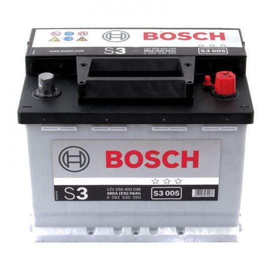 Автомобильный аккумулятор АКБ BOSCH (БОШ) S3 005 / 556 400 048 S3 56Ач о.п.
