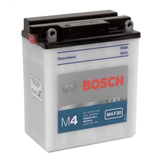 Мото аккумулятор АКБ BOSCH (БОШ) M4F 300 / M4 F30 moba  12V 512 011 012 A504 FP 12Ач п.п. (12N12A-4A-1/YB12A-A)