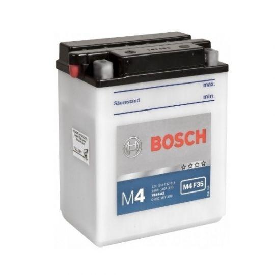 Мото аккумулятор АКБ BOSCH (БОШ) M4F 350 / M4 F35 moba 12V 514 012 014 A504 FP 14Ач п.п. (YB14-A2)