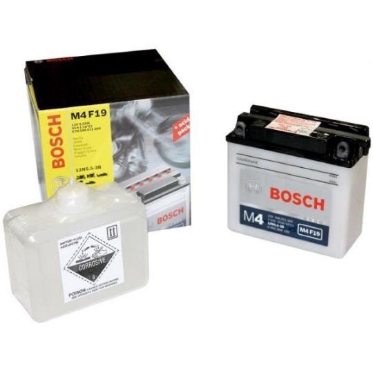 Мото аккумулятор АКБ BOSCH (БОШ) M4F 190 / M4 F19 moba 12V 506 011 004 A504 FP 6Ач о.п. (12N5.5-3B)