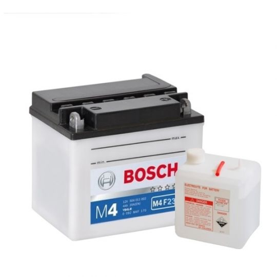 Мото аккумулятор АКБ BOSCH (БОШ) M4F 230 / M4 F23 moba 12V 507 101 008 A504 FP 7Ач о.п. (GM7CZ-3D, YB7C-A)