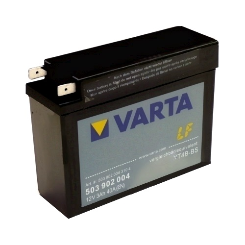 Мото аккумулятор АКБ VARTA (ВАРТА) AGM 503 902 004 YT4B-4 / YT4B-BS 3Ач о.п.