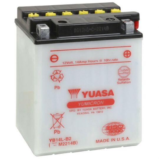 Мото аккумулятор АКБ YUASA (Юаса) YB14-B2 14Ач п.п.