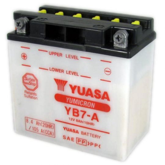 Мото аккумулятор АКБ YUASA (Юаса) YB7-A 8Ач п.п.