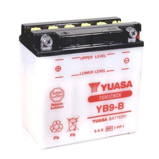 Мото аккумулятор АКБ YUASA (Юаса) YB9-B 9Ач п.п.