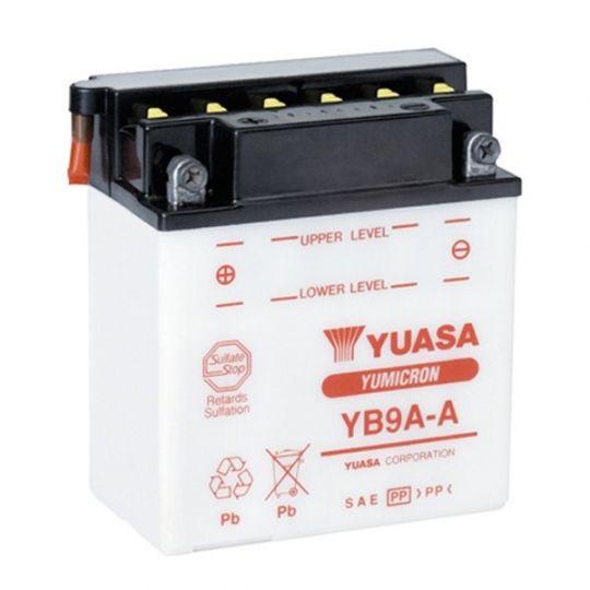 Мото аккумулятор АКБ YUASA (Юаса) YB9A-A 9Ач п.п.