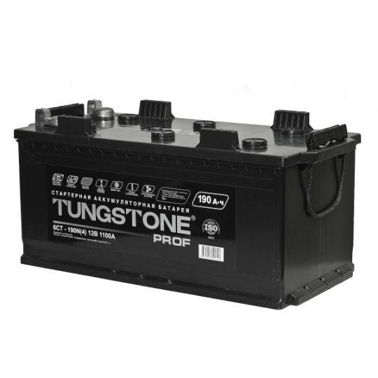 Автомобильный аккумулятор Tungstone Prof (Тангстоун Проф) 6СТ-190 N 190Ач П.П. (4) (росс.) БОЛТ