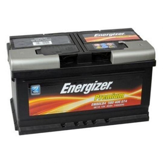 Автомобильный аккумулятор АКБ Energizer (Энерджайзер) PREMIUM EM80LB4 580 406 074 80Ач о.п.