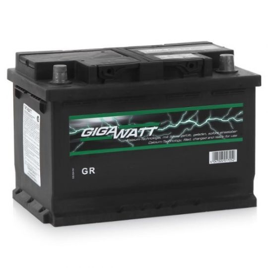 Автомобильный аккумулятор АКБ GigaWatt (Гигават) G72R 572 409 068 72Ач о.п.