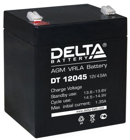 Аккумулятор свинцово-кислотный АКБ DELTA (Дельта) DT 12045 12 Вольт 4.5 Ач