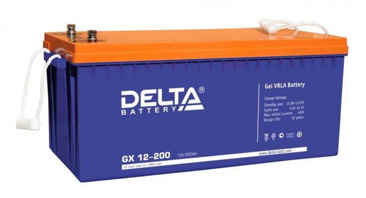 Аккумулятор свинцово-кислотный АКБ DELTA (Дельта) GX 12-200 12 Вольт 200 Ач (Gel)