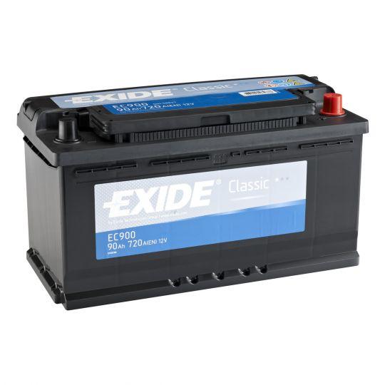 Автомобильный аккумулятор АКБ Exide (Эксайд) Classic EC900 90Ач o.п.