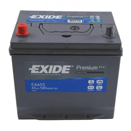 Автомобильный аккумулятор АКБ Exide (Эксайд) Premium EA655 65Ач п.п.