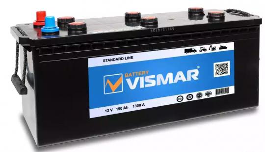 Автомобильный аккумулятор АКБ Vismar (ВИСМАР) 6СТ-190 190Ач О.П. (3) (евро)