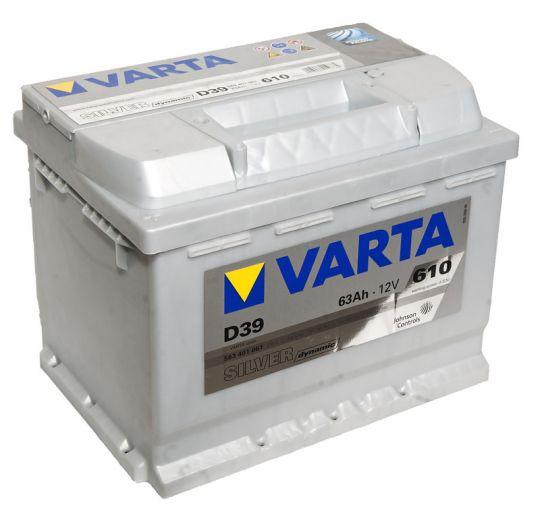 Автомобильный аккумулятор АКБ VARTA (ВАРТА) Silver Dynamic 563 401 061 D39 63Ач ПП