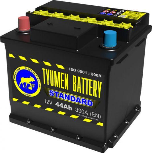 Автомобильный аккумулятор АКБ Тюмень (TYUMEN BATTERY) STANDARD 6СТ-44L 44Aч О.П.