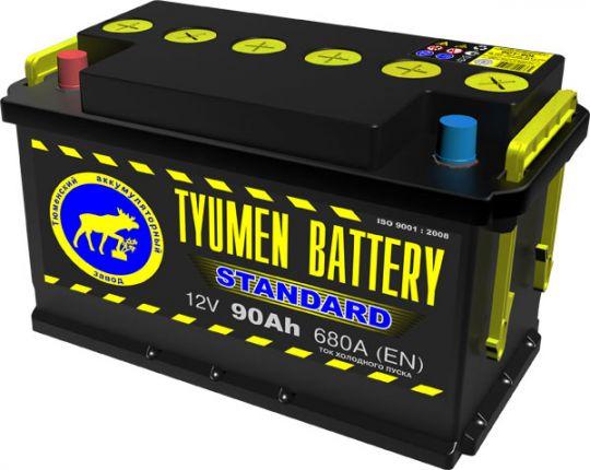 Автомобильный аккумулятор АКБ Тюмень (TYUMEN BATTERY) STANDARD 6CT-90L 90Aч О.П.