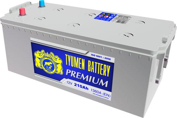 Автомобильный аккумулятор АКБ Тюмень (TYUMEN BATTERY) PREMIUM  6CT-210L 210Aч П.П. (4) (росс)