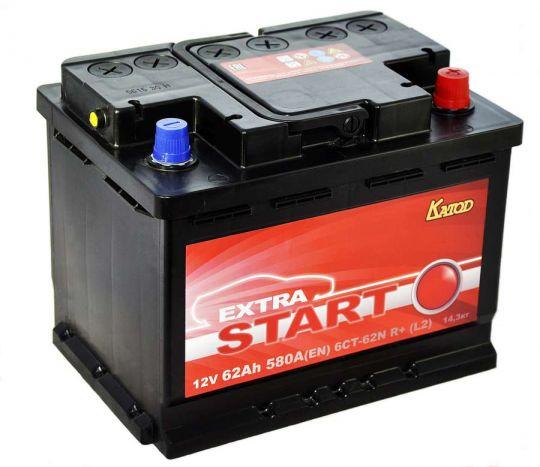 Автомобильный аккумулятор АКБ Extra START (Экстра Старт) 6CT-62 62Ач о.п.