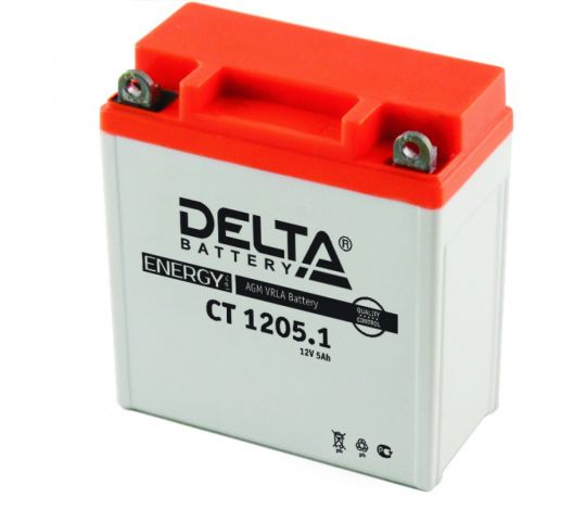 Мото аккумулятор АКБ Delta (Дельта) CT 1205.1 п.п.