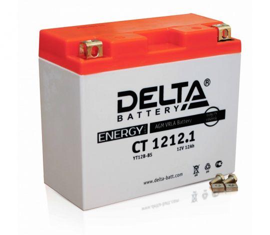Мото аккумулятор АКБ Delta (Дельта) CT 1212.1 п.п. YT12B-BS