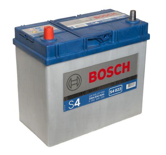 Автомобильный аккумулятор АКБ BOSCH (БОШ) S4 022 / 545 157 033 S4 Silver 45Ач п.п. (тонк. кл.)