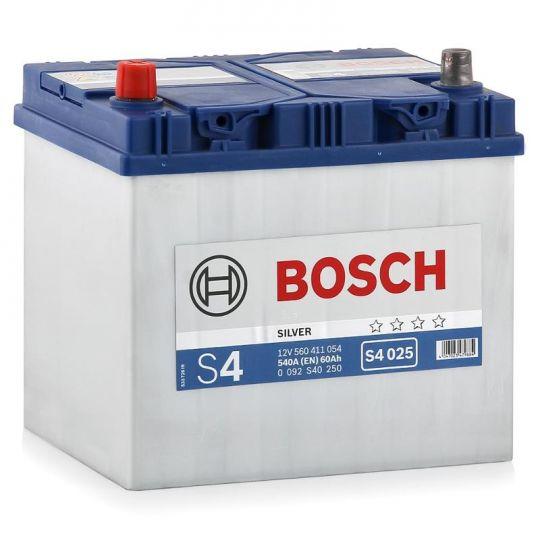Автомобильный аккумулятор АКБ BOSCH (БОШ) S4 025 / 560 411 054 S4 Silver 60Ач п.п. (высок.)