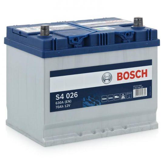 Автомобильный аккумулятор АКБ BOSCH (БОШ) S4 026 / S4 570 412 063 Silver 70Ач о.п. (высок.)