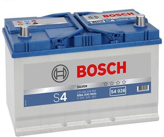 Автомобильный аккумулятор АКБ BOSCH (БОШ) S4 028 / 595 404 083 S4 Silver 95Ач о.п. (высок)