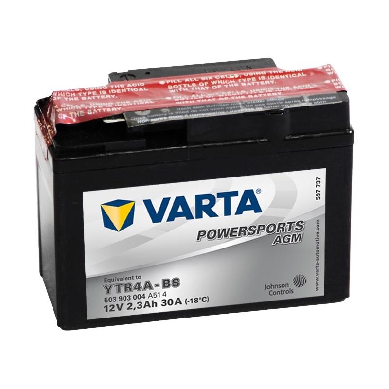 Аккумулятор для мототехники Varta 3Ач Moto AGM 503 903 004 (YTR4A-BS) - фото 2