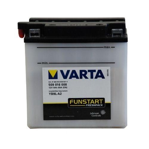 Мото аккумулятор АКБ VARTA (ВАРТА) FP 509 016 008 A514 YB9L-A2 9Ач о.п.