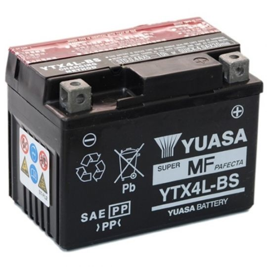 Мото аккумулятор АКБ YUASA (Юаса) YTX4L-BS 3Ач о.п.