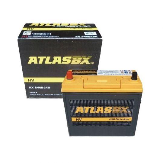 Автомобильный аккумулятор АКБ ATLAS (Атлас) ABX AGM S46B24R 45Ач п.п.