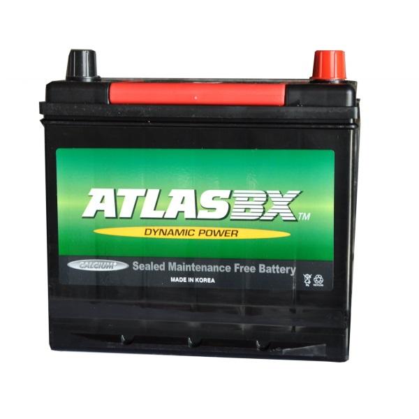 Автомобильный аккумулятор АКБ ATLAS (Атлас) 100RC MF26R-550 60Ач о.п. нижнее крепление