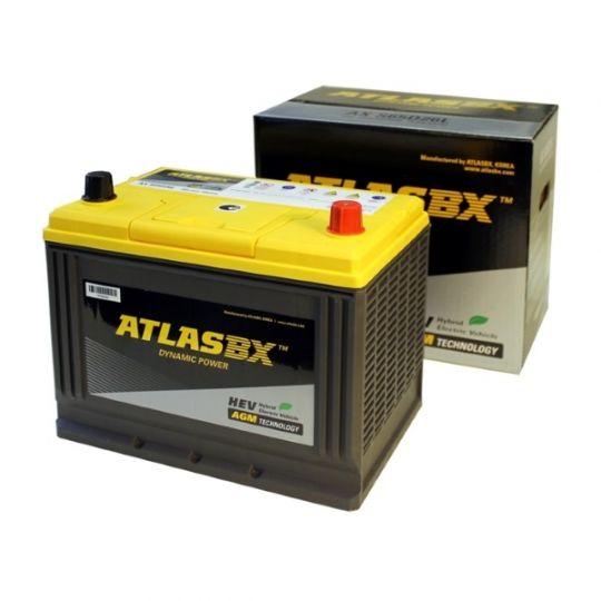 Автомобильный аккумулятор АКБ ATLAS (Атлас) AGM AX S65D26L 75Ач о.п.