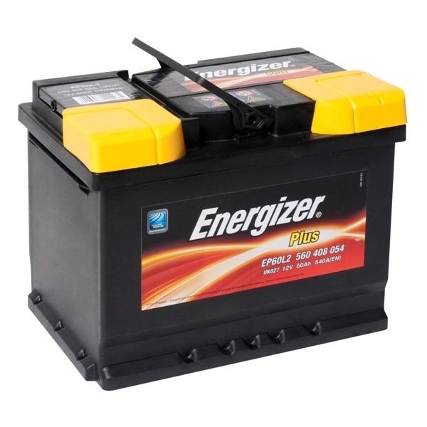 Автомобильный аккумулятор АКБ Energizer (Энерджайзер) PLUS EP60L2 560 408 054 60Ач о.п.