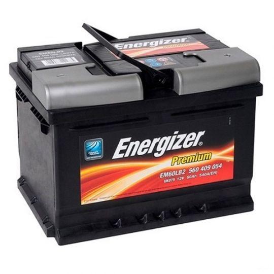 Автомобильный аккумулятор АКБ Energizer (Энерджайзер) PREMIUM EM60LB2 560 409 054 60Ач о.п.