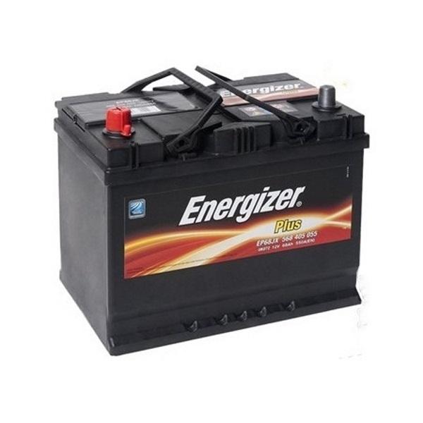 Автомобильный аккумулятор АКБ Energizer (Энерджайзер) PLUS EP68JX 568 405 055 68Ач п.п.