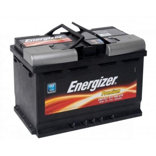 Автомобильный аккумулятор АКБ Energizer (Энерджайзер) PREMIUM EM77L3 577 400 078 77Ач о.п.