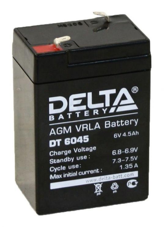 Аккумулятор свинцово-кислотный АКБ DELTA (Дельта) DT 6045 6 Вольт 4.5 Ач