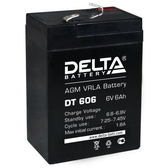 Аккумулятор свинцово-кислотный АКБ DELTA (Дельта) DT 606 6 Вольт 6 Ач