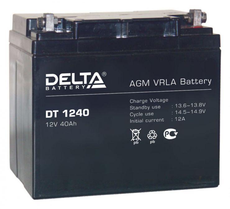Аккумулятор свинцово-кислотный АКБ DELTA (Дельта) DT 1240 12 Вольт 40 Ач