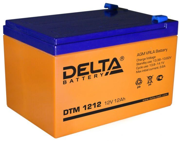 Аккумулятор свинцово-кислотный АКБ DELTA (Дельта) DTM 1212 12 Вольт 12 Ач