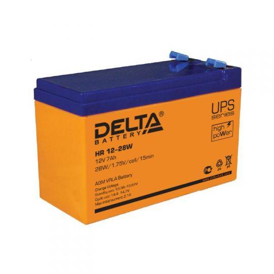 Аккумулятор свинцово-кислотный АКБ DELTA (Дельта) HR 12-28W 12 Вольт 7Ач