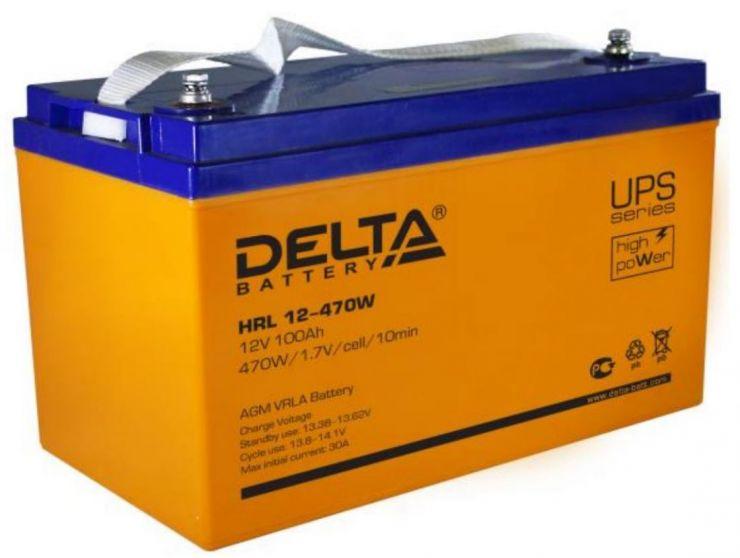 Аккумулятор свинцово-кислотный АКБ DELTA (Дельта) HRL 12-470W 12 Вольт 100Ач