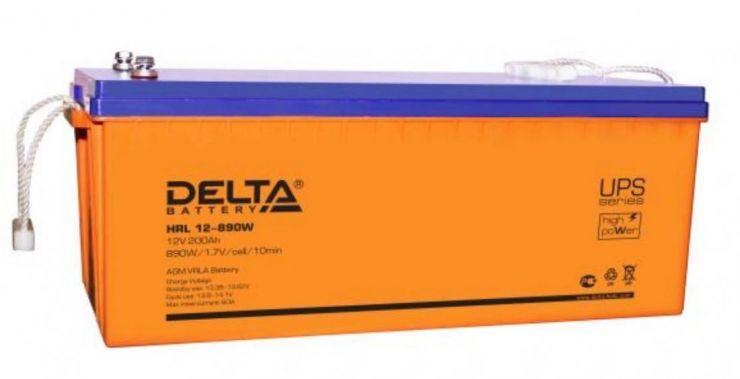 Аккумулятор свинцово-кислотный АКБ DELTA (Дельта) HRL 12-890W 12 Вольт 200Ач