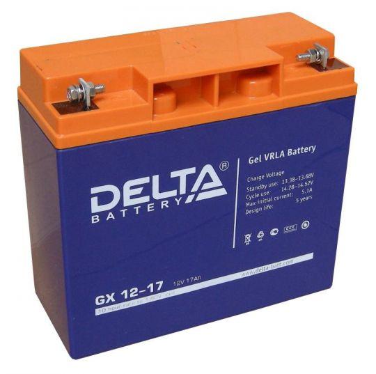 Аккумулятор свинцово-кислотный АКБ DELTA (Дельта) GX 12-17 12 Вольт 17 Ач (Gel)